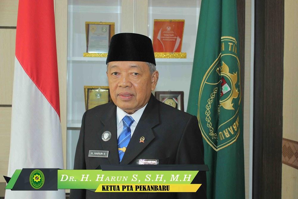 Ketua Pengadilan Tinggi Agama Pekanbaru, Dr. H. Harun S, S.H., M.H.